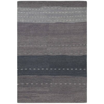 Cora Hand-Woven Brown Area Rug Rug Size: 36 x 56