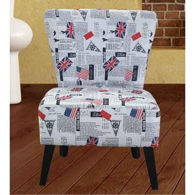Herring Flag Pattern Side Chair