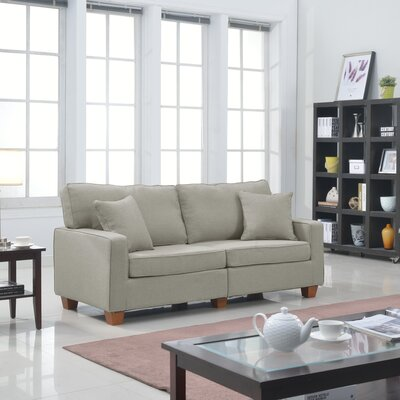 Dax Modern Loveseat Upholstery: Beige