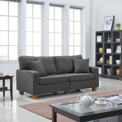 Marquardt Modern Loveseat Upholstery: Dark Grey