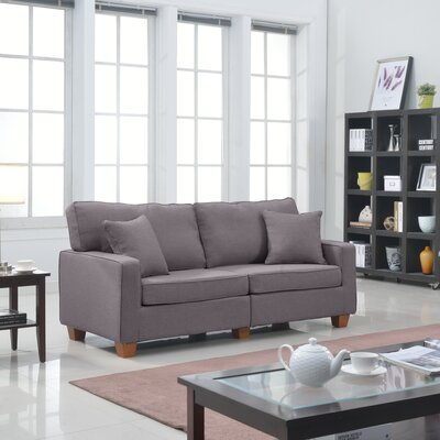 Marquardt Modern Loveseat Upholstery: Light Grey