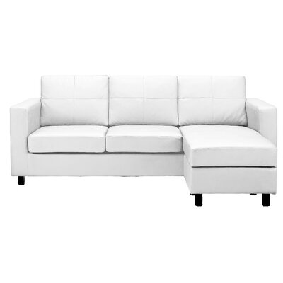 Ralph Reversible Sectional Upholstery: White
