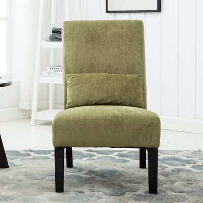 Randi Slipper Chair Color: Green