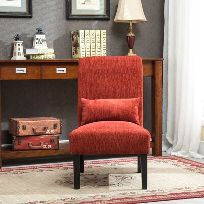 Randi Slipper Chair Color: Red