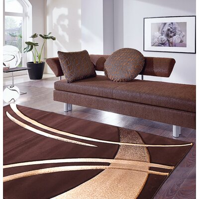 Rene Dark Brown Rug Rug Size: 110 x 27
