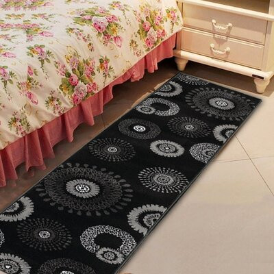 Browning Kaleidoscopic Charcoal Area Rug Rug Size: Runner 11 x 69