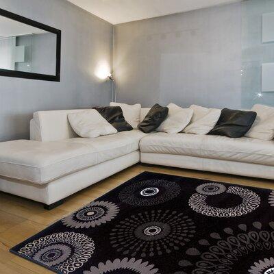 Helene Kaleidoscopic Charcoal Area Rug Rug Size: 79 x 99