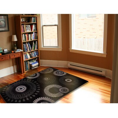 Browning Kaleidoscopic Charcoal Area Rug Rug Size: 79 x 99