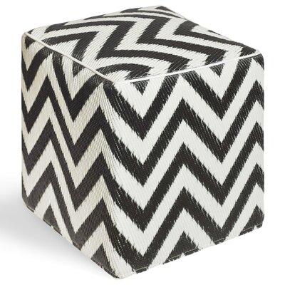 Reva Ottoman Upholstery: Black/White
