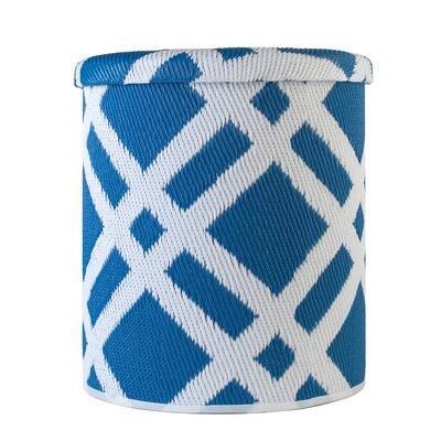 Reva Pouf Upholstery: Blue