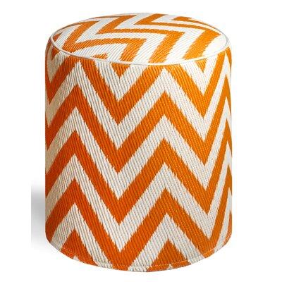 Reva Ottoman Upholstery: Orange Peel/White