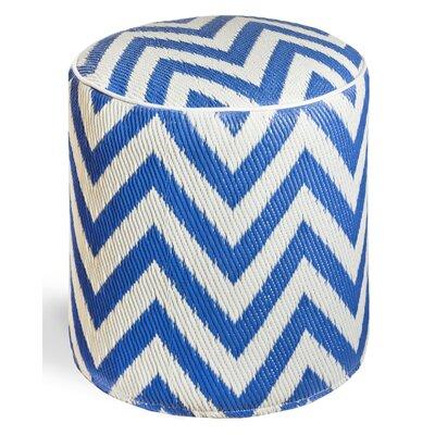 Reva Ottoman Upholstery: Regatta Blue/White