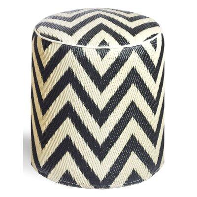Reva Ottoman Upholstery: Sand/Black