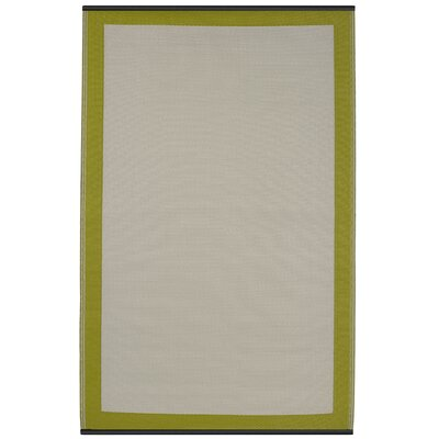Reva Hand Woven Green Indoor/Outdoor Area Rug Rug Size: 4 x 6
