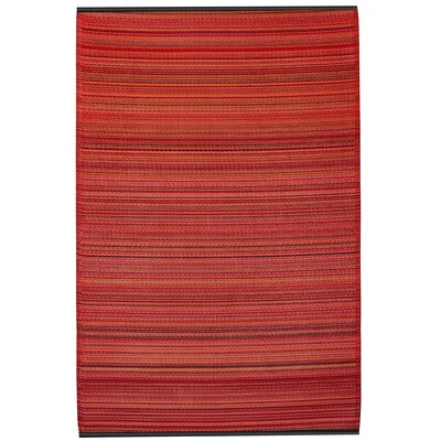 Reva Hand-Woven Red Indoor/Outdoor Area Rug Rug Size: 4 x 6
