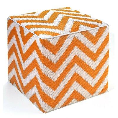 Reva Pouf Ottoman Upholstery: Orange Peel