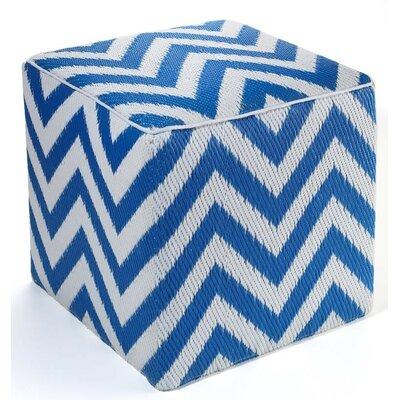 Reva Pouf Ottoman Upholstery: Regatta Blue