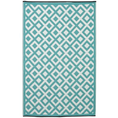 Reva Eggshell Blue Indoor/Outdoor Area Rug Rug Size: 3 x 5