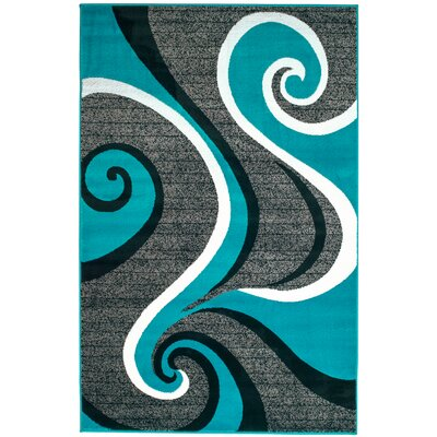 Rick Turquoise Area Rug Rug Size: Rectangle 410 x 72