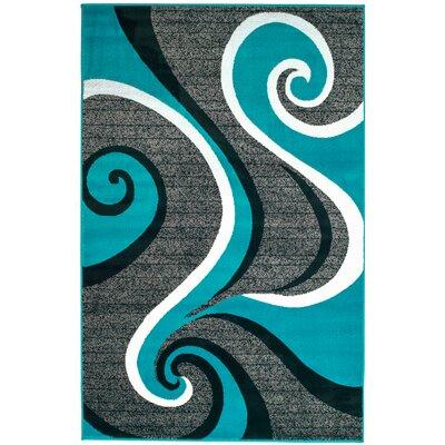 Rick Turquoise Area Rug Rug Size: 410 x 72