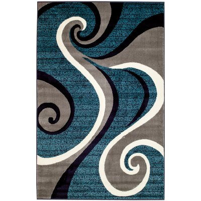 Rick Blue Area Rug Rug Size: Rectangle 38 x 5