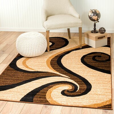 Rick Brown Area Rug Rug Size: 2 x 3