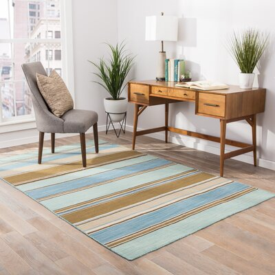 Elwanda Aqua Sky Rug Rug Size: Rectangle 10 x 14