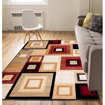 Ayala Squares Area Rug Rug Size: 82 x 910
