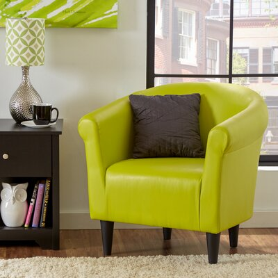 Liam Barrel Chair Color: Green