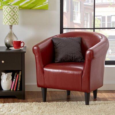 Liam Barrel Chair Color: Merlot
