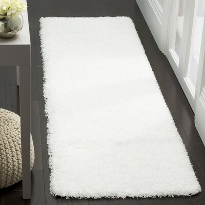 Cole White Area Rug Rug Size: Runner 23 x 8