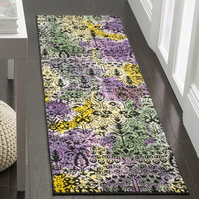 Chris Yellow/Green Area Rug Rug Size: Square 67
