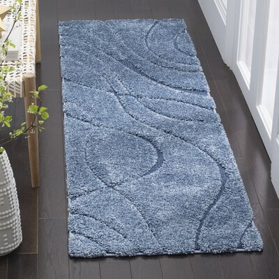 Enrique Blue Area Rug Rug Size: Runner 23 x 9