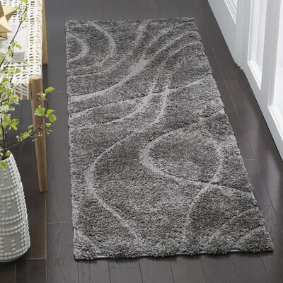 Enrique Gray Area Rug Rug Size: Runner 23 x 9