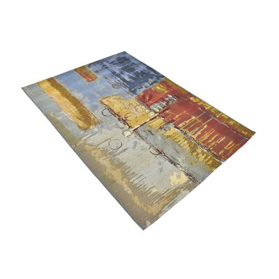 Camdyn Blue/Red Indoor/ Outdoor Area Rug Rug Size: Rectangle 53 x 8