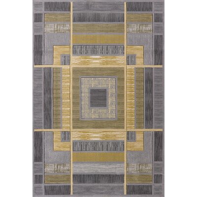 Dov Geometric Silver Area Rug Rug Size: Runner 27 x 72