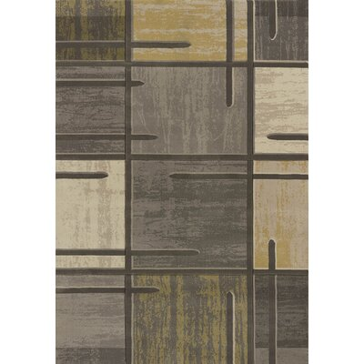 Dov Geometric Grey Area Rug Rug Size: Runner 27 x 72