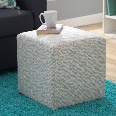 Jillian Cube Ottoman Upholstery: Robins Egg