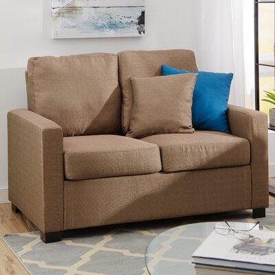 Amanda Loveseat Upholstery: Stone