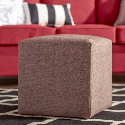 Joan Cube Ottoman Upholstery: Bark