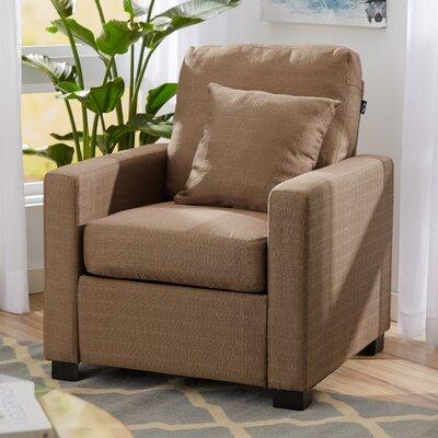 Amanda Armchair Upholstery: Pebble Stone