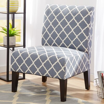Rosario Slipper Chair Color: Blue