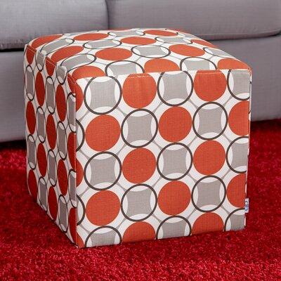 Schmitt Geometric Cube Ottoman Upholstery: Granite