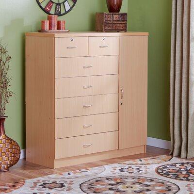 Roselyn 7 Drawer Dresser Color: Beech