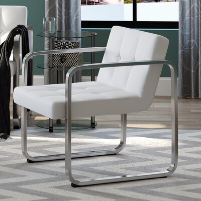 Dolly Armchair Frame Finish: White