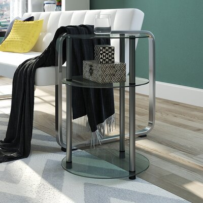 Elizabeth Three Tier End Table Color: Silver