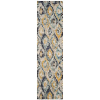 Goose Point Blue Area Rug Rug Size: Runner 22 x 10