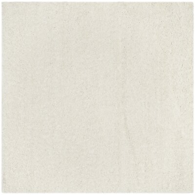 Kourtney White Area Rug Rug Size: Square 67 x 67
