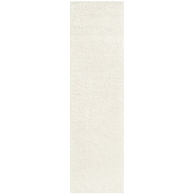 Kourtney White Area Rug Rug Size: Runner 23 x 6