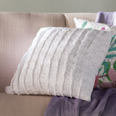 Rowena 100% Cotton Throw Pillow Color: White